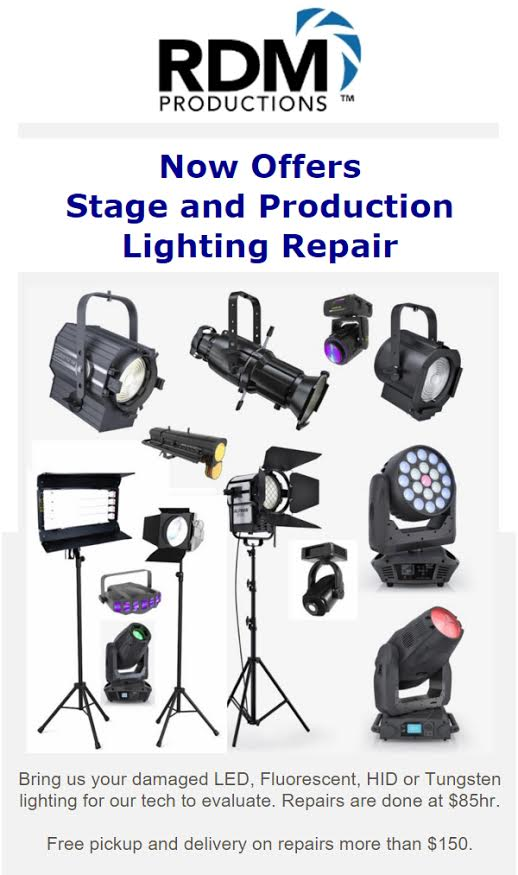 RDM Productions Offers Stage u0026 Production Lighting Repair  sc 1 st  RDM Productions & Productions Offers Stage u0026 Production Lighting Repair azcodes.com